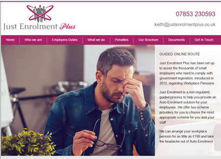 Financial Website Design - Just Enrolment