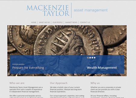 Financial Website Design - McKenzie Taylor