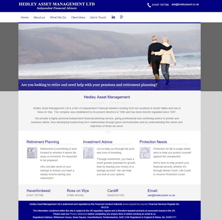 Financial Website Design Hedley Asset Management
