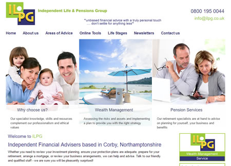 Financial Website Design ILPG