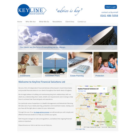 Financial Website Design - Keyline Financial Solutions