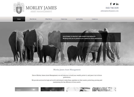 Financial Website Design - James Morley